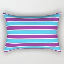 Multicolored Stripes: Blue & Purple Rectangular Pillow