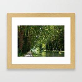 Canal du midi Framed Art Print