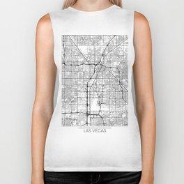 Las Vegas Map White Biker Tank