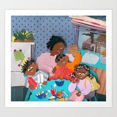 Family Breakfast Art Print