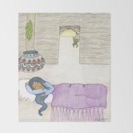 Sleeping Girl Throw Blanket