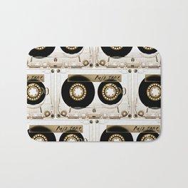 Retro classic vintage transparent mix cassette tape Bath Mat