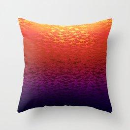 Sharks At Sunset Throw Pillow