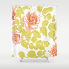 rose garden pink Shower Curtain