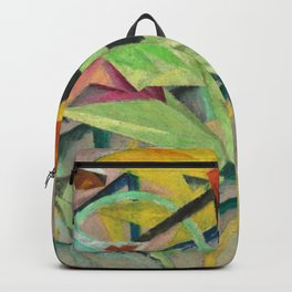 The Bicycle Race, the Grand Tour by Lyonel Feininger Backpack