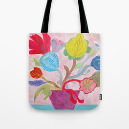 Folk Flower Bouquet  Tote Bag