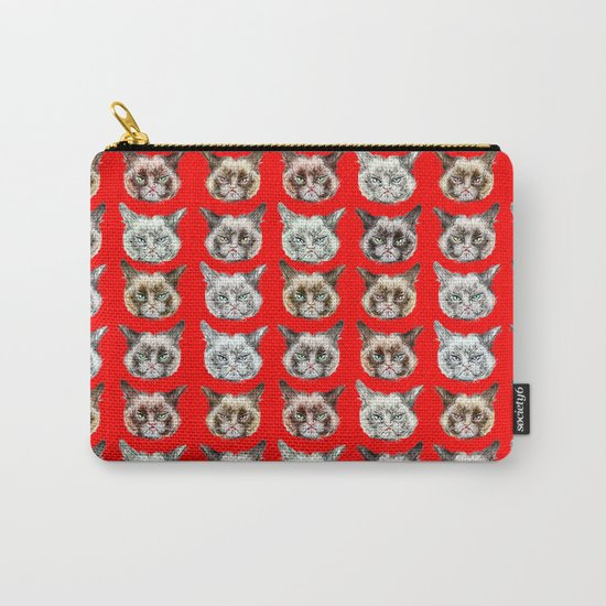 Cats Cats Cats on Red Carry-All Pouch