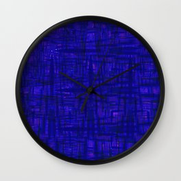Blue Is Us And You Wall Clock
