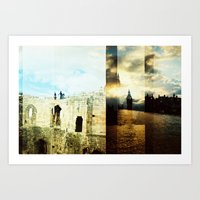 england Art Prints featuring England by magsjoy