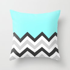 Color Blocked Chevron 16 Throw Pillow