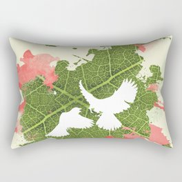 Leaf Bird Rectangular Pillow