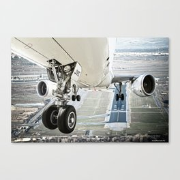 Positive rate.. gear up Canvas Print