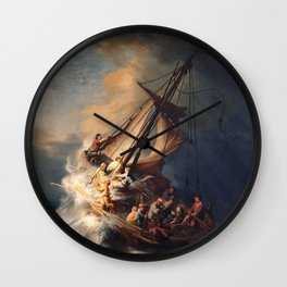 Christ in the Storm on the Sea of Galilee, Rembrandt Van Rijn Wall Clock