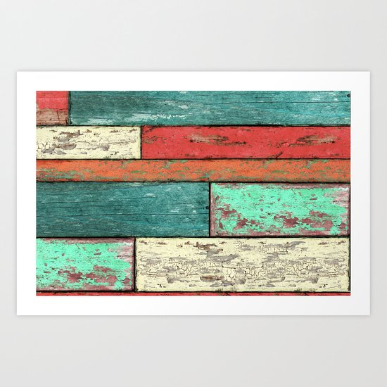 Cubic Wood 2 Art Print