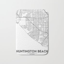 Minimal City Maps - Map Of Huntington Beach, California, United States Bath Mat
