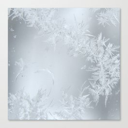 Soft Maine Frost Canvas Print