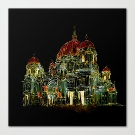 Berlin Cathedral at Night Canvas Print