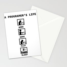 programmer coffee daily rhythm funny gift Stationery Cards