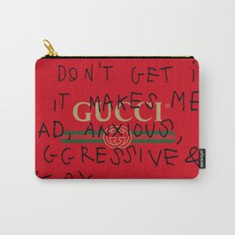 GUCCI/I DON'T GET IT Carry-All Pouch