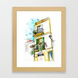 Casa carrer Sta Creu - Ibiza Framed Art Print