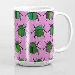 Beetle Print - Pink Coffee Mug