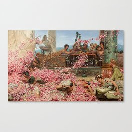 The Roses of Heliogabalus by Alma-Tadema Canvas Print
