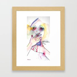from the inside - out Framed Art Print