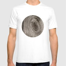 Wood MEDIUM Mens Fitted Tee White