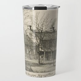 The Harsen Homestead, Corner of 10th Avenue and 70th Street (from Scenes of Old New York), by Henry Travel Mug