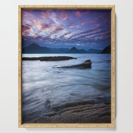 Sunset Over the Cuillin Serving Tray