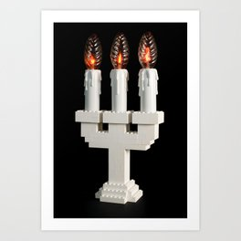 Lego light #1 Art Print
