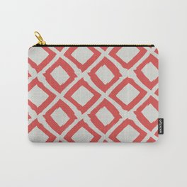 Valencia Red Diamonds Carry-All Pouch