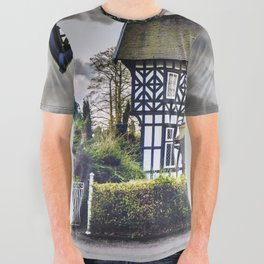 Tudor Home All Over Graphic Tee