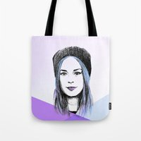 gemma Tote Bags featuring Gemma by bylosangeles