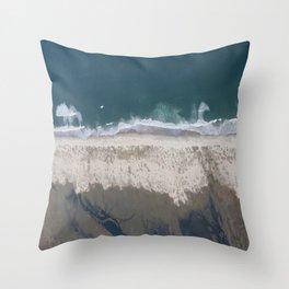 Aerial Beach Photograph: Masonboro Island | Wrightsville Beach NC Throw Pillow