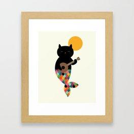 Purrmaid Framed Art Print
