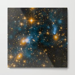 Cosmos 2, when stars collide (enhanced) Metal Print