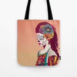 Mexican Skull Lady Tote Bag