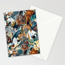 Flowers and Birds Stationery Cards