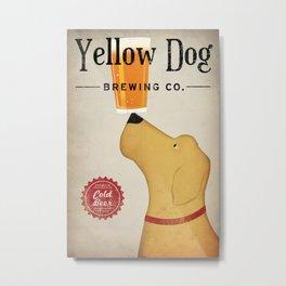 Yellow Dog Lab Labrador Brewing Beer Fowler Metal Print