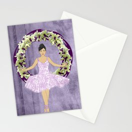 Ballerina Orchid Wreath Stationery Cards