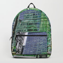 London Photography Canary Wharf Recollection Pop ART Backpack