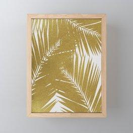 Palm Leaf Gold III Framed Mini Art Print