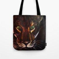 jaguar Tote Bags featuring Jaguar by mejony