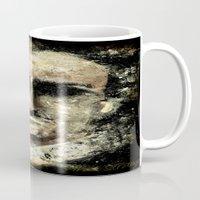 edgar allan poe Mugs featuring Edgar Allan Poe by Anso Strange