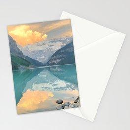 Lake Louise Sunrise Stationery Cards