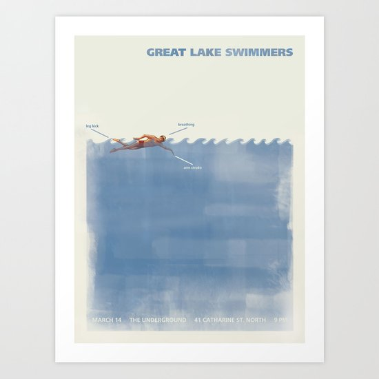 Great Lake Swimmers Gig Poster Art Print
