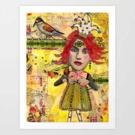 """Jester Girl"" Original Journal Art by Peri Allen Art Print"