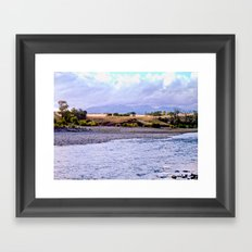 Camping on the Yellowstone River Framed Art Print