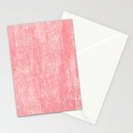 Coral white modern watercolor paint brushstrokes Stationery Cards